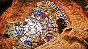 Decoración del vidrio del tejado Fotografía de archivo libre de regalías