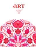 Decoración del vintage de Ector, etiqueta, capítulo, frontera, elementos del diseño floral Diseño abstracto de la plantilla del v Imagenes de archivo