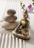 Decoración del zen para la atmósfera relajante del balneario Imagen de archivo libre de regalías