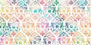 Decoración digital multicolora de la teja de la pared para el hogar interior, papel pintado, linóleo, página web, fondo, ejemplo ilustración del vector