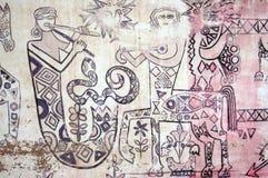 Decoración egipcia tradicional de la pared Fotografía de archivo