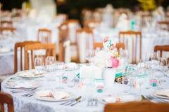 Decoración elegante de la tabla de la boda Foto de archivo libre de regalías