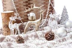 Decoración en colores pastel de la Navidad Imágenes de archivo libres de regalías