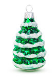 Decoración en el juguete del árbol de navidad en la forma de los árboles de navidad Foto de archivo libre de regalías