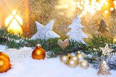Decoración en el tiempo de la Navidad Fotografía de archivo libre de regalías