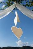 Decoración en forma de corazón imagen de archivo libre de regalías