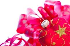 Decoración en forma de corazón de la Navidad Imágenes de archivo libres de regalías