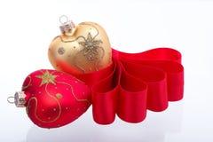 Decoración en forma de corazón de la Navidad Imagen de archivo libre de regalías