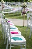 Decoración en la celebración occidental de la boda Imagenes de archivo