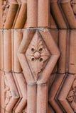 Decoración en la entrada a la abadía de Jedburgh en el Bor escocés Fotografía de archivo