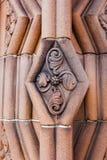 Decoración en la entrada a la abadía de Jedburgh en el Bor escocés Imagenes de archivo