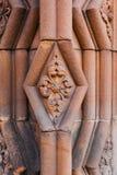 Decoración en la entrada a la abadía de Jedburgh en el Bor escocés Imagen de archivo libre de regalías