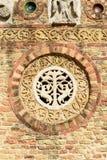 Decoración en la pared del nartex de la abadía, Pomposa, Italia Fotos de archivo libres de regalías