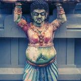 Decoración en la pared del templo Imagenes de archivo