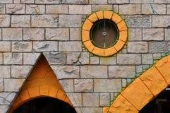 Decoración en la pared externa del edificio Foto de archivo libre de regalías