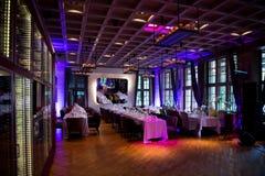 Decoración especial para una boda en un restaurante magnífico Imagenes de archivo