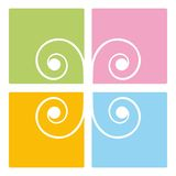 Decoración espiral Foto de archivo libre de regalías