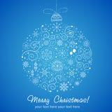 Decoración estilizada de la Navidad del diseño Imagen de archivo libre de regalías