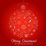 Decoración estilizada de la Navidad del diseño Imagen de archivo