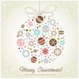 Decoración estilizada de la Navidad del diseño Fotografía de archivo libre de regalías