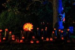 Decoración estupenda de Halloween en la avenida de Alegría, Sierra Madre Foto de archivo libre de regalías