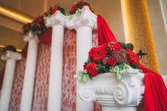 Decoración festiva de la boda Decoración para la ceremonia ilustraciones Imagen de archivo libre de regalías