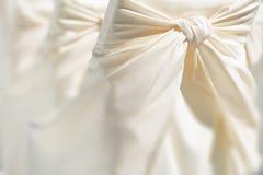 Decoración festiva de la silla de la boda fotos de archivo libres de regalías