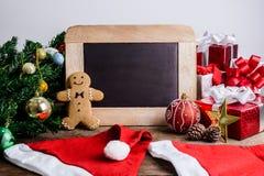 Decoración festiva, galleta de la Navidad y Año Nuevo en la forma o Foto de archivo libre de regalías