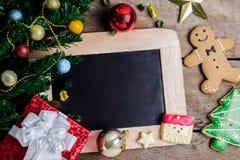 Decoración festiva, galleta de la Navidad y Año Nuevo en la forma o Imagen de archivo libre de regalías