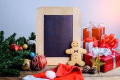 Decoración festiva, galleta de la Navidad y Año Nuevo en la forma o Fotos de archivo libres de regalías