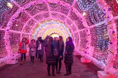 Decoración festiva por el Año Nuevo y la Navidad Imagenes de archivo
