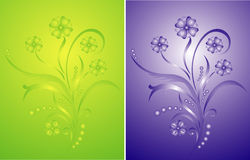 Decoración floral stock de ilustración