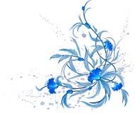 Decoración floral azul. libre illustration