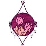 Decoración floral del vintage del vector Foto de archivo libre de regalías