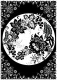 Decoración floral Greyscale libre illustration
