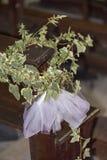 Decoración floral Wedding Foto de archivo libre de regalías