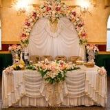 Decoración floral Wedding fotografía de archivo