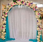 Decoración floral Wedding fotos de archivo libres de regalías