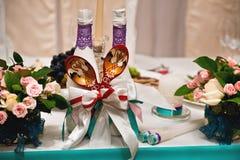 Decoración floral Wedding imágenes de archivo libres de regalías
