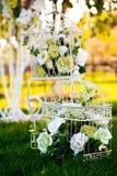 Decoración floral Wedding imagen de archivo libre de regalías