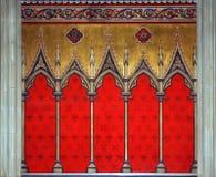 Decoración gótica de la pared Fotografía de archivo libre de regalías