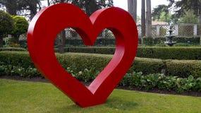 Decoración grande del jardín del corazón Fotografía de archivo libre de regalías