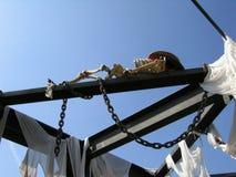 Decoración Halloween en el puerto Aventura España del parque imagenes de archivo