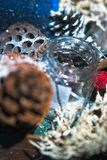 Decoración hecha a mano de la Navidad Fotografía de archivo libre de regalías