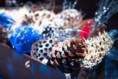 Decoración hecha a mano de la Navidad Foto de archivo