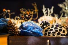 Decoración hecha a mano de la Navidad Imágenes de archivo libres de regalías