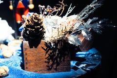 Decoración hecha a mano de la Navidad Fotografía de archivo