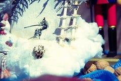Decoración hecha a mano de la Navidad Imagenes de archivo