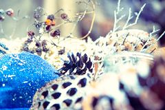Decoración hecha a mano de la Navidad Fotos de archivo