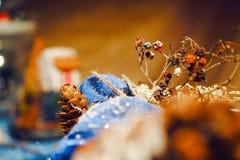 Decoración hecha a mano de la Navidad Imagen de archivo libre de regalías
